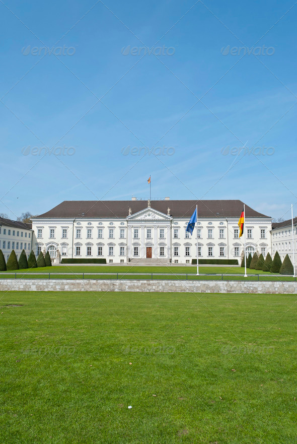 Bellevue Palace in Berlin  - Stock Photo - Images