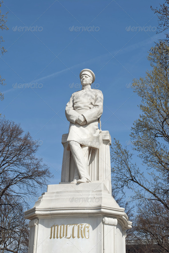 Statue of Helmuth von Moltke in Berlin  - Stock Photo - Images