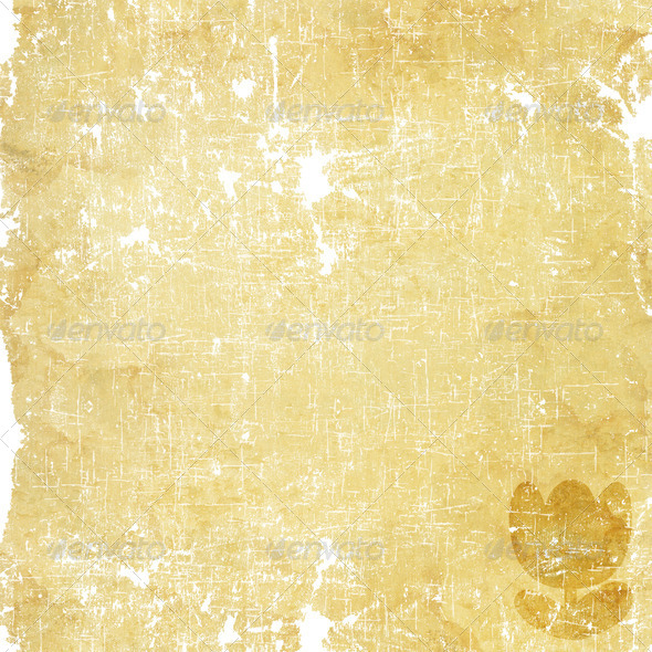 Flower icon on old paper background - Stock Photo - Images