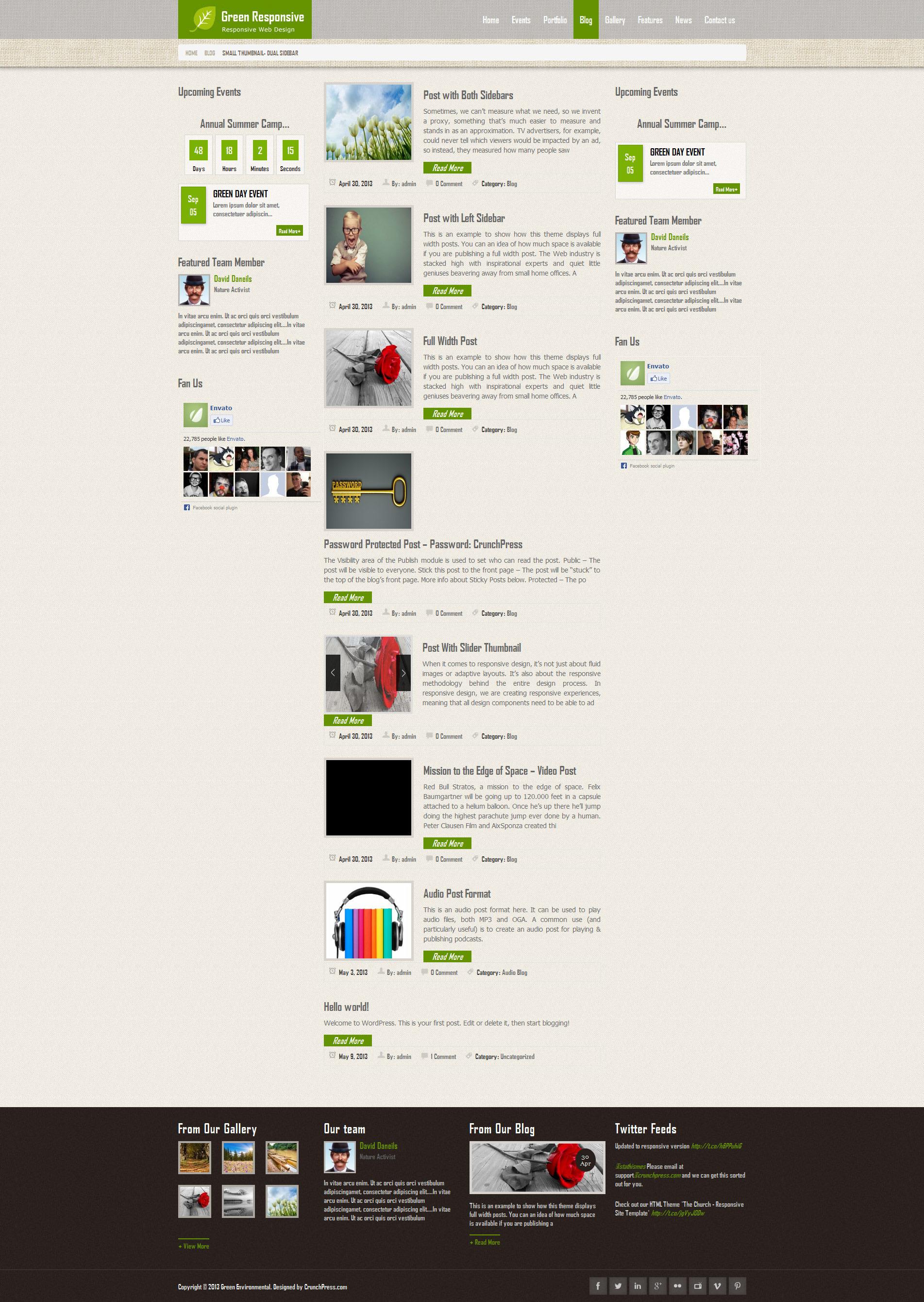 Green Responsive WordPress Theme