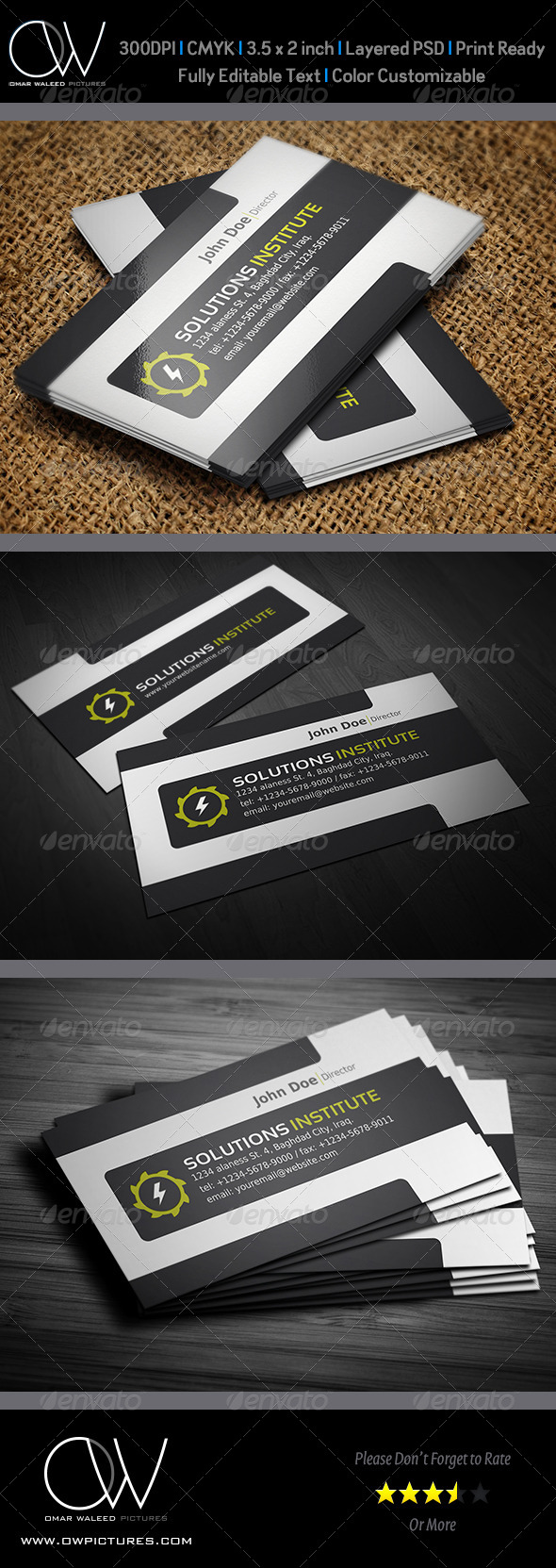 Corporate Business Card Vol.23 - Business Cards Print Templates