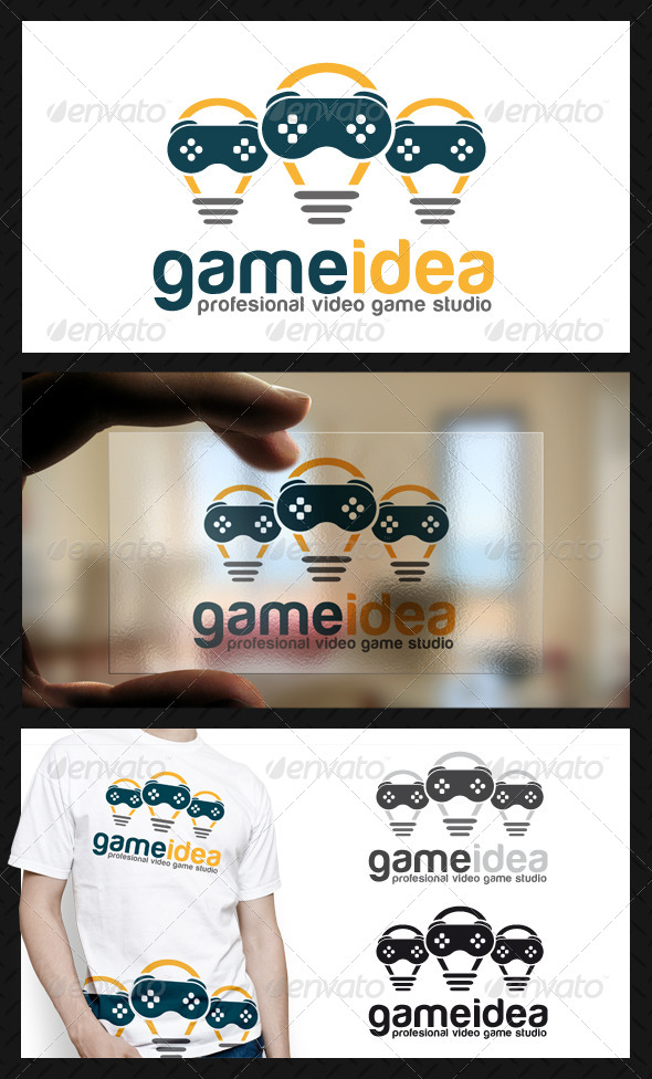 GraphicRiver Game Idea Logo Template 4723846