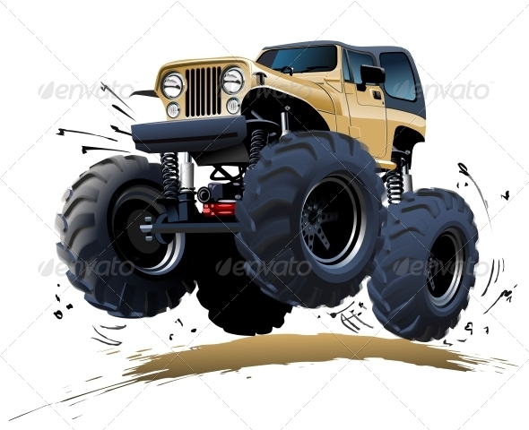 GraphicRiver Cartoon Monster Truck 4725323