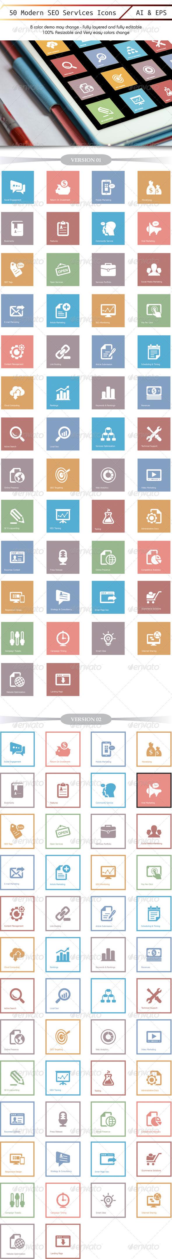 GraphicRiver 50 Model Seo Icon Beautiful Update 4701028