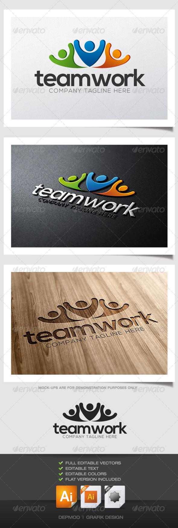 GraphicRiver Team Work Logo 4725345