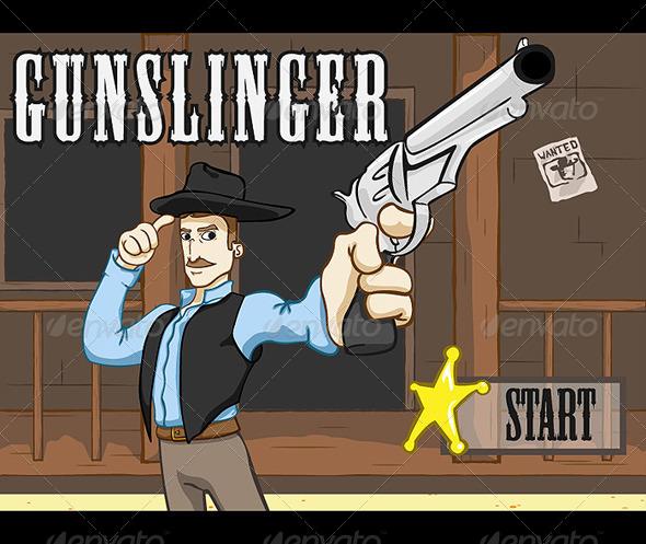 GraphicRiver Gunslinger Game Pack BUNDLE 4697597