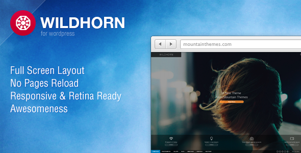 ThemeForest Wildhorn Full Screen Responsive & Retina 4717438
