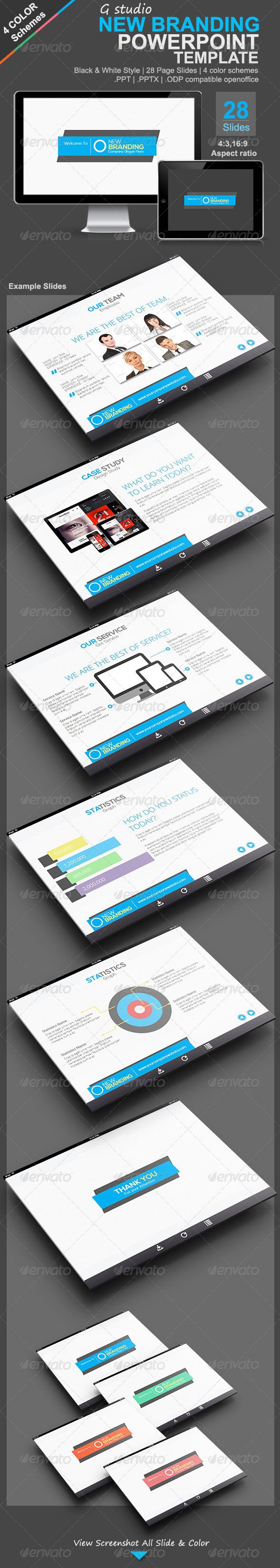 GraphicRiver Gstudio New Branding Presentation Template 4725398