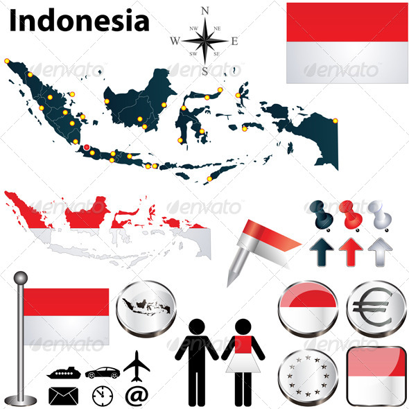 GraphicRiver Map of Indonesia 4725473