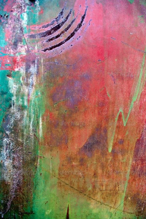 Colored grunge iron background