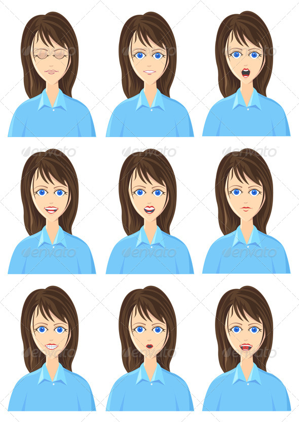 GraphicRiver Character Expression Icon Set 4721667
