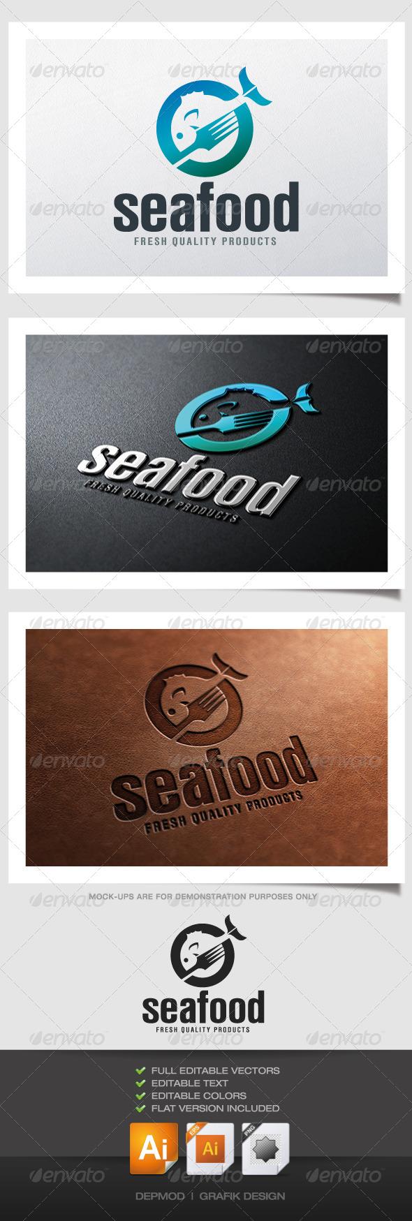 GraphicRiver Sea Food Logo 4726163