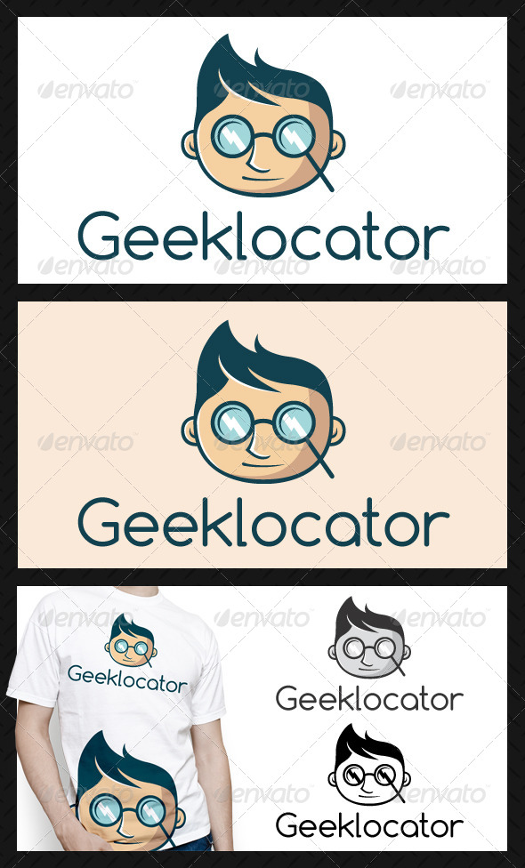 GraphicRiver Geek Locator Logo Template 4726235