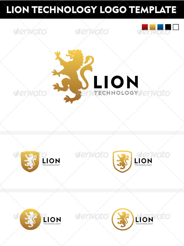 GraphicRiver Lion Technology logo template 4638624