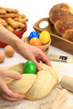 Hands kneading the Easter bread dough - PhotoDune Item for Sale