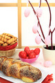 Easter sweet bread with red eggs and shortbread cookies - PhotoDune Item for Sale