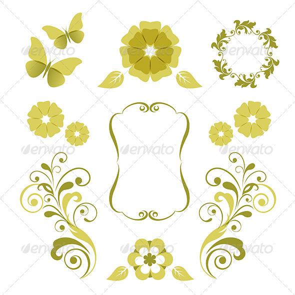 GraphicRiver Floral Design Elements 4726695