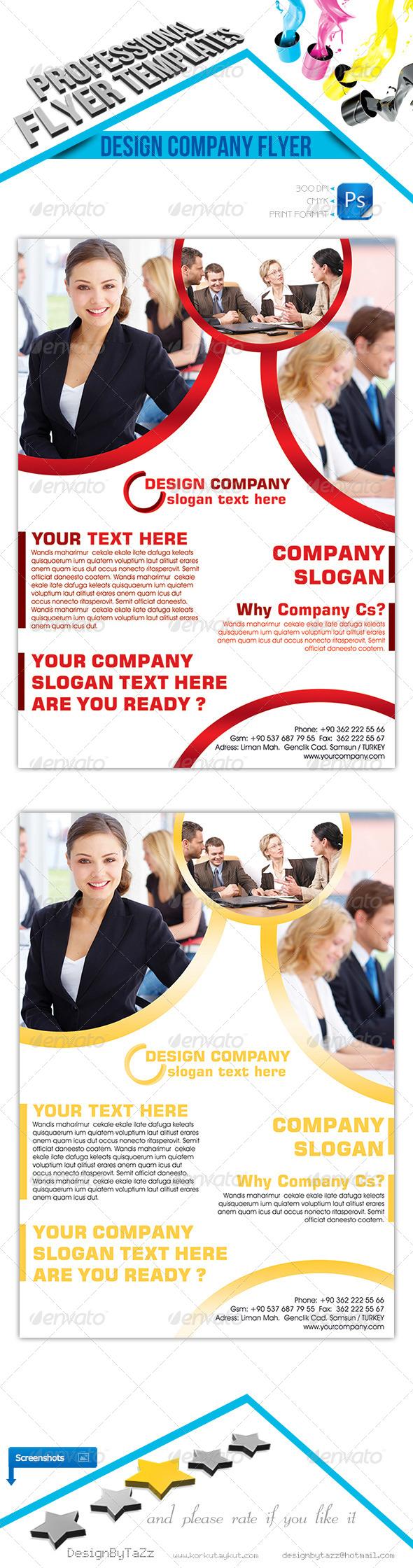 GraphicRiver Design Company Flyer Template 4651105