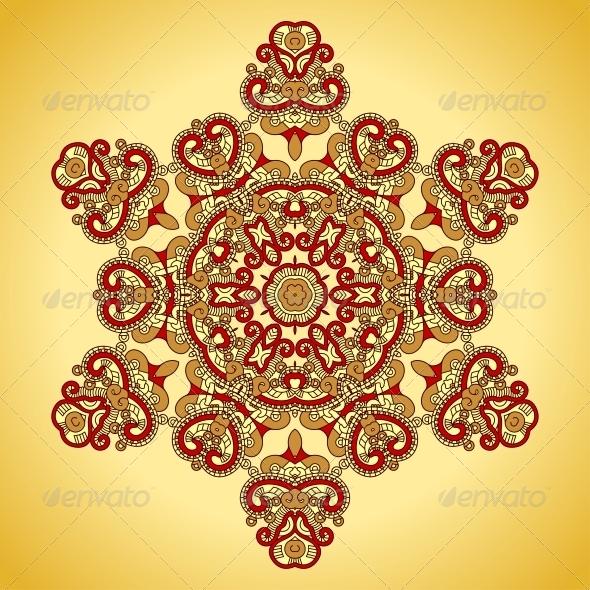 GraphicRiver Vector Round Decorative Design Element 4726886