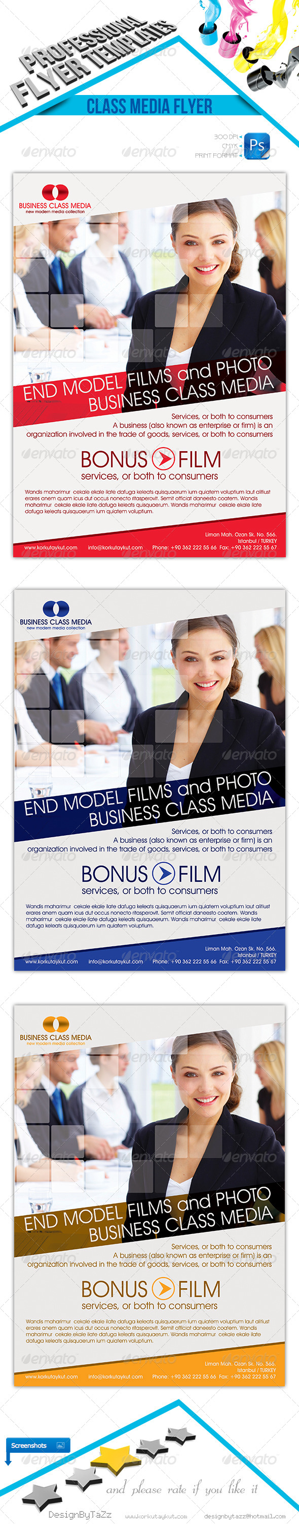 GraphicRiver Business Class Media Flyer Template 4646123