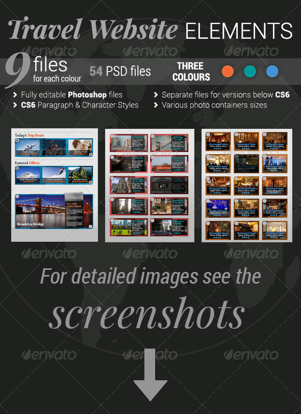 GraphicRiver Travel Website Elements 4069464