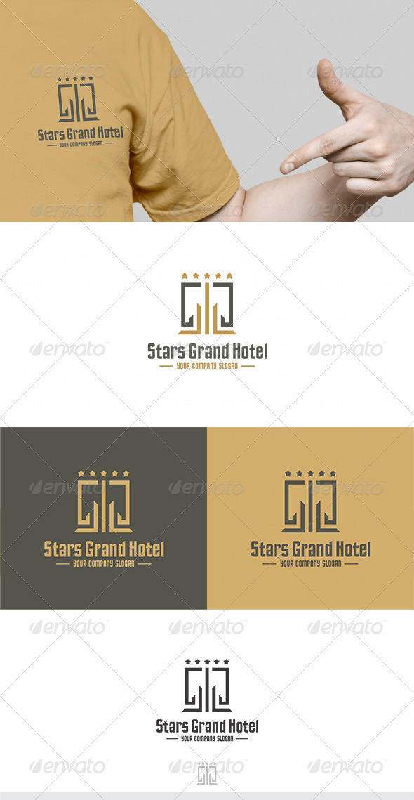 GraphicRiver Stars Grand Hotel Logo 4726909