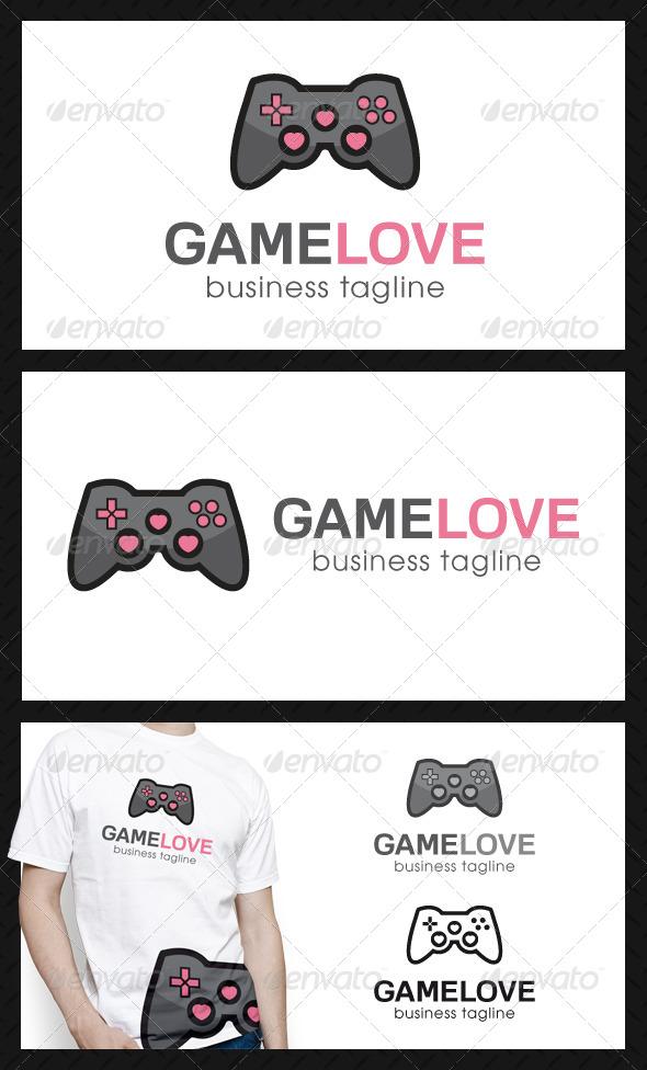 Game Love Logo Template