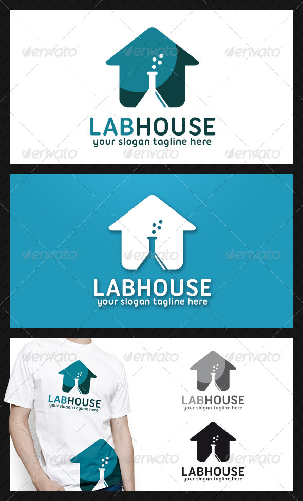 GraphicRiver Lab House Logo Template 4726975