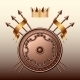 Crown and Bronze Shield with Spears - GraphicRiver Item for Sale