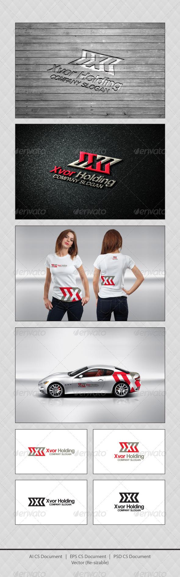 GraphicRiver Xvor Holding X Logo Templates 4726999