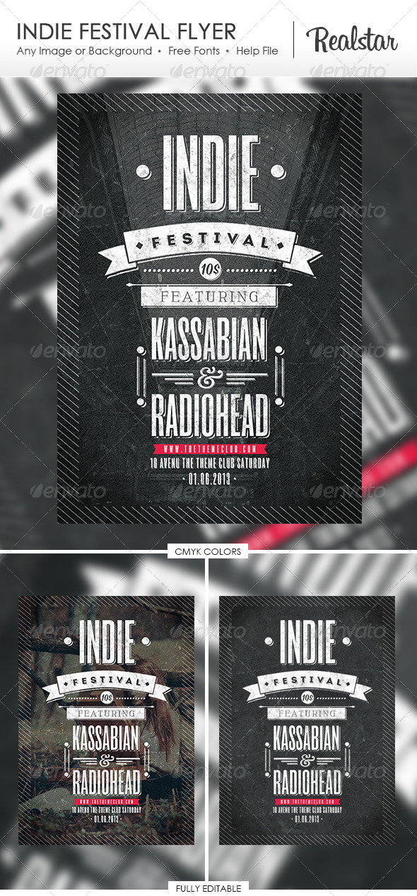 GraphicRiver Indie Festival Flyer 4727004