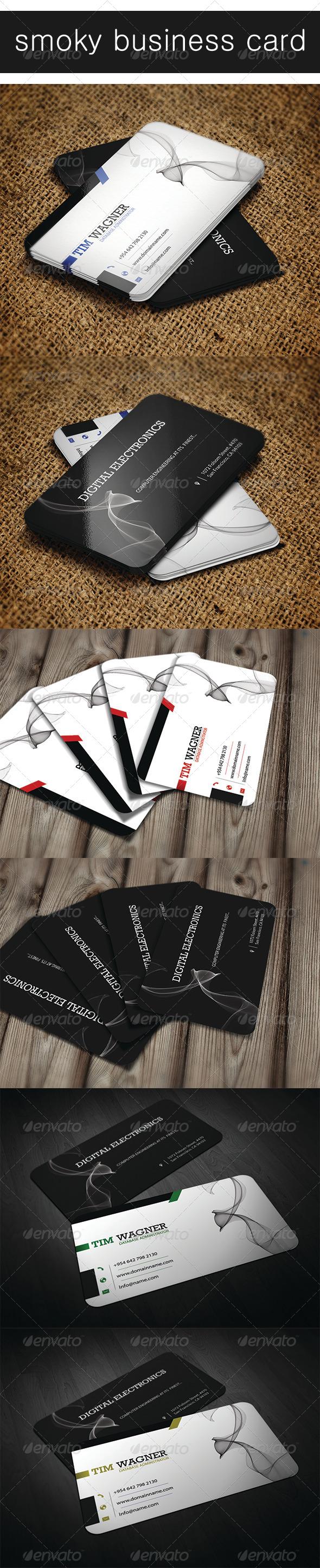 GraphicRiver Smoky Business Card 4649654