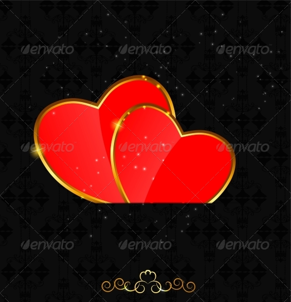 GraphicRiver Valentines Day Heart Background 4727436