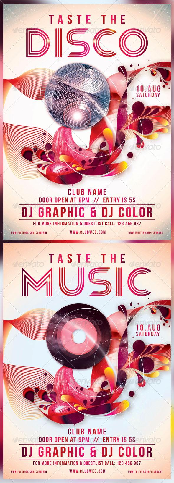 GraphicRiver Taste The Disco Music 4646103