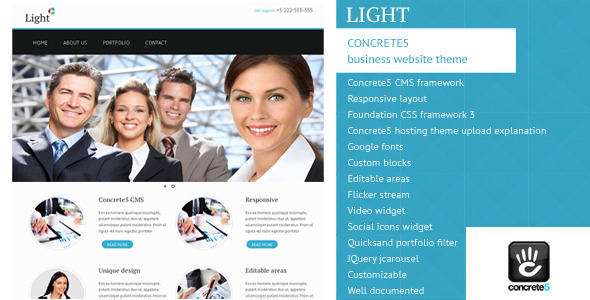 ThemeForest Light Concrete5 Business Theme 4727904