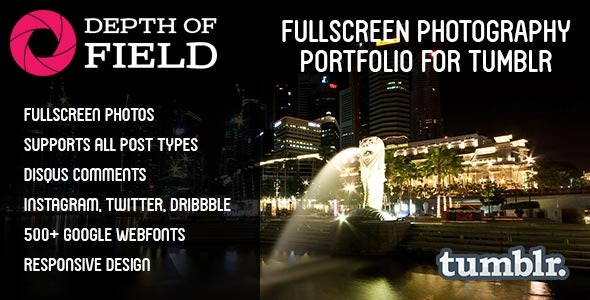 Depth of Field - Fullscreen Photography Portfolio