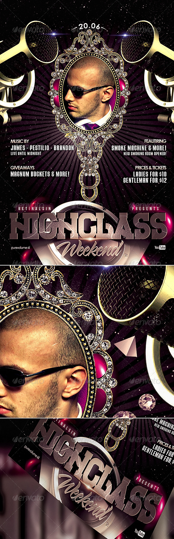 GraphicRiver HighClass Weekend Flyer Template 4655298