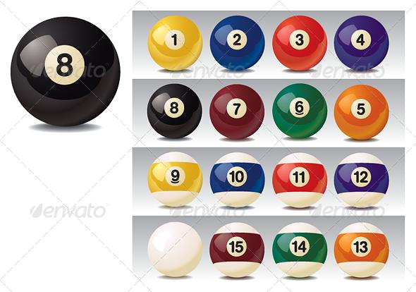 GraphicRiver Realistic Vector Billiard Balls 4728034