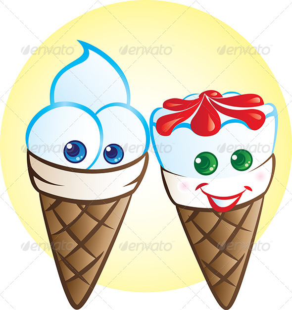 GraphicRiver Ice Cream Mascots 4728158