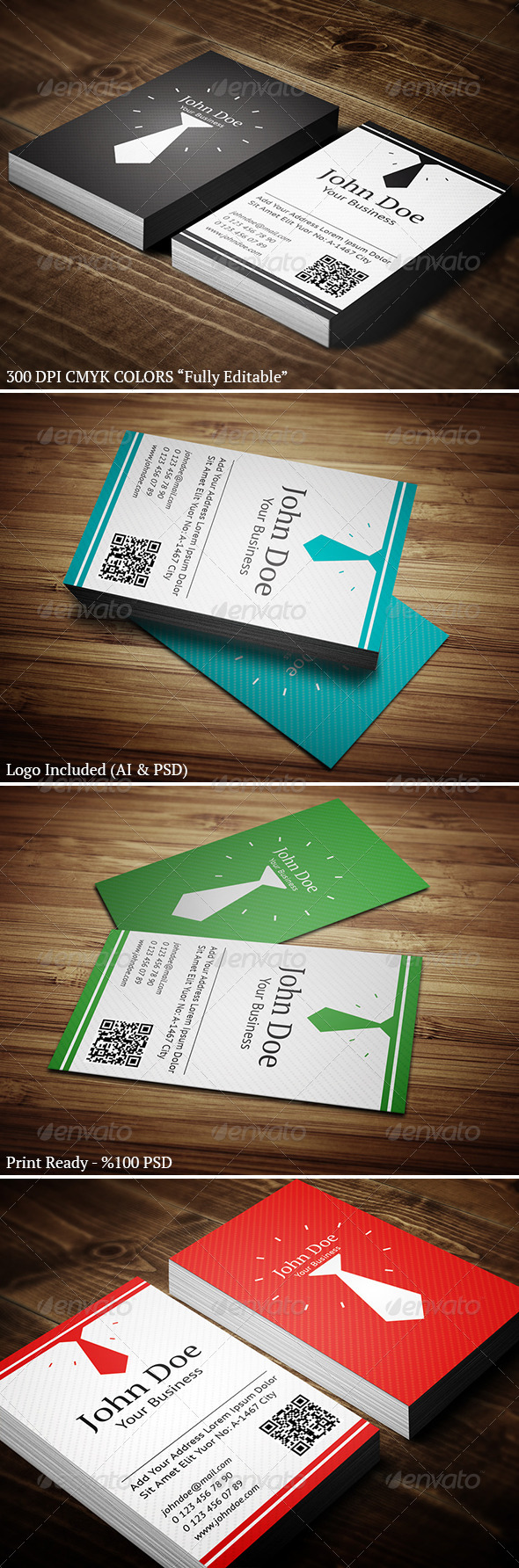 GraphicRiver Vertical Business Card 01 4640693
