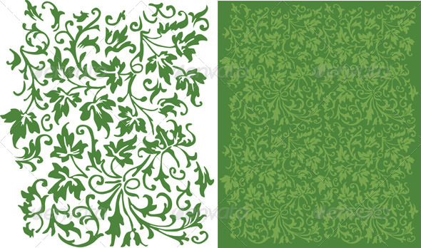 GraphicRiver Ivy Pattern 4728599