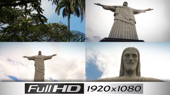 Brazil Corcovado 1 4-Pack