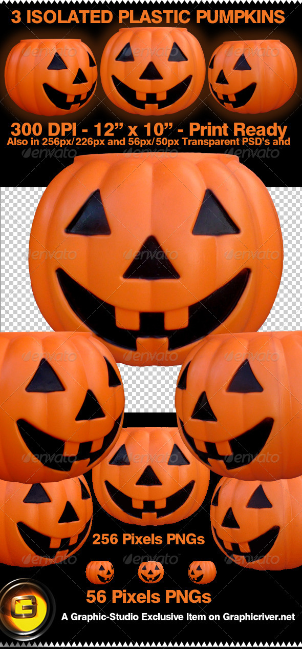 GraphicRiver Isolated Pumpkins Printable too 4728856