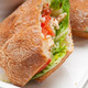 ciabatta panini sandwich with chicken and tomato - PhotoDune Item for Sale