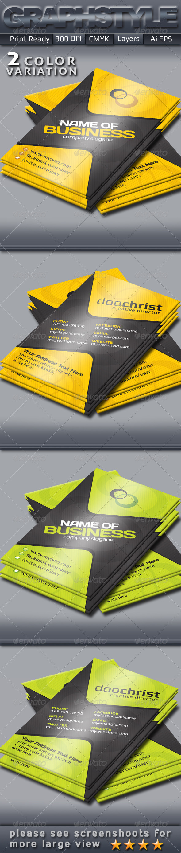 GraphicRiver Business Card Templates 4613569