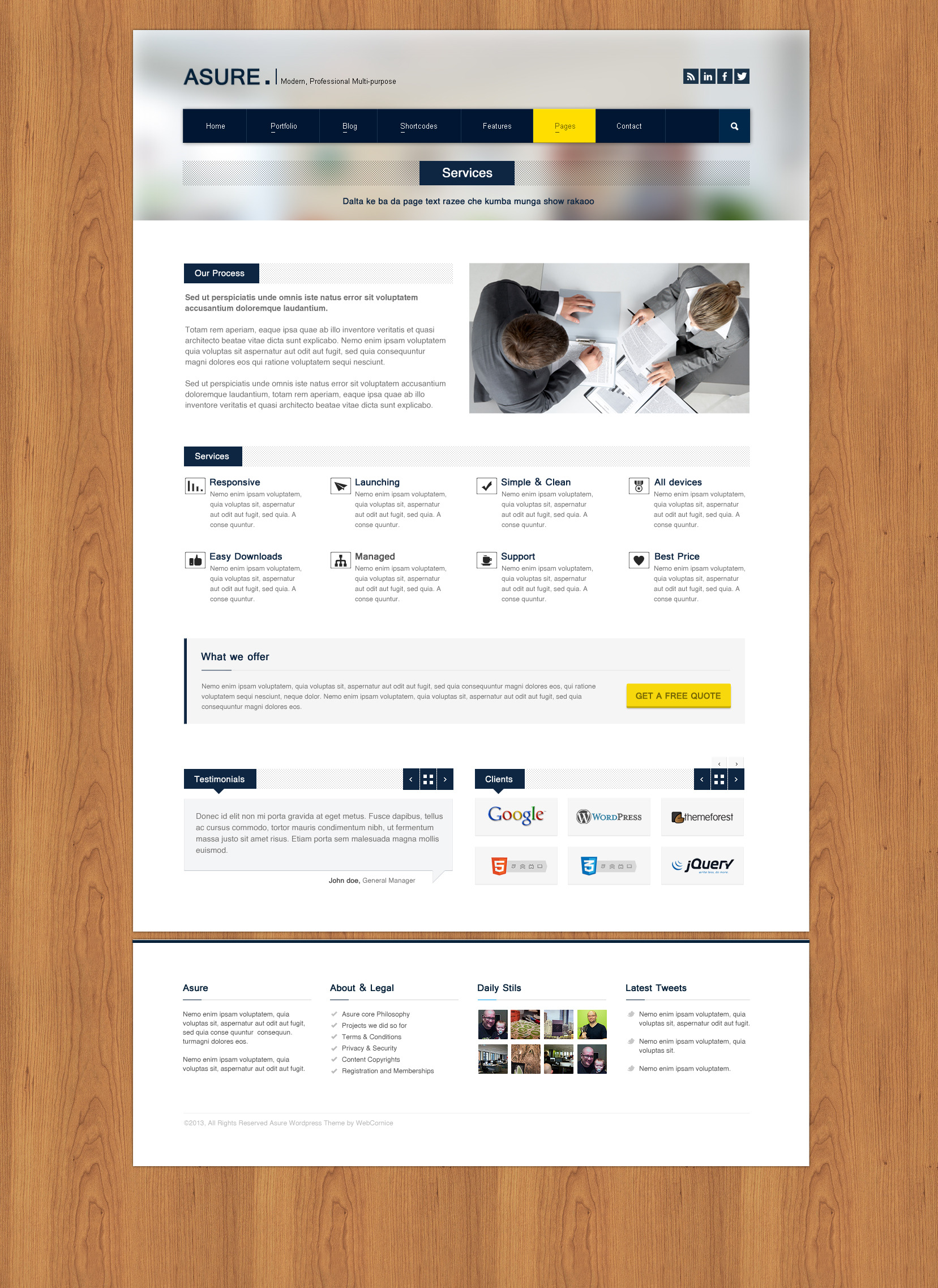 ASURE - Multi Purpose HTML Template