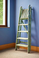 Home improvement with ladder and blue wall - PhotoDune Item for Sale