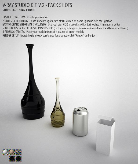 3DOcean Vray Studio Setup v.2 Pack Shots 4729552