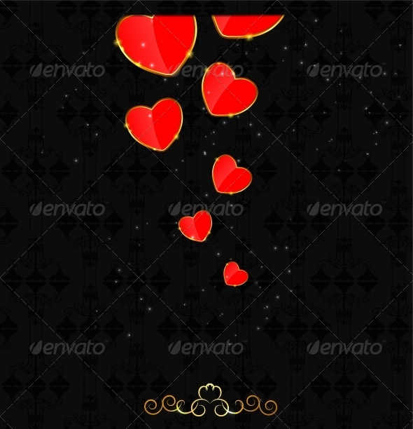 GraphicRiver Valentines Day Heart Background 4729903