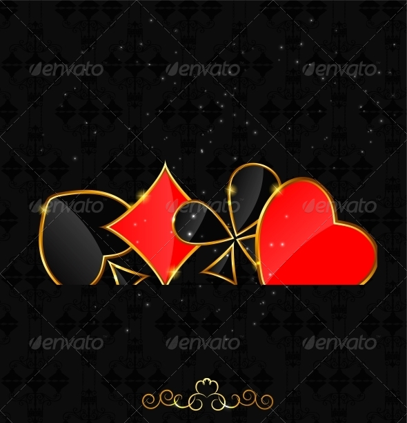 Abstract Background with Card Suits